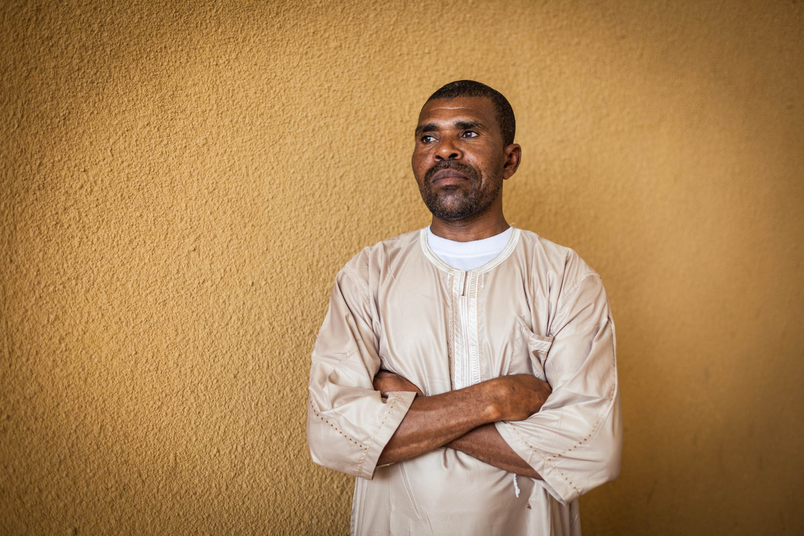 Mohammad Abdi, a smuggler involved in the process of transferring the documents of Timbuktu out of the cities main museum, when the Islamists took over the city and endangered the preservation of the manuscripts.