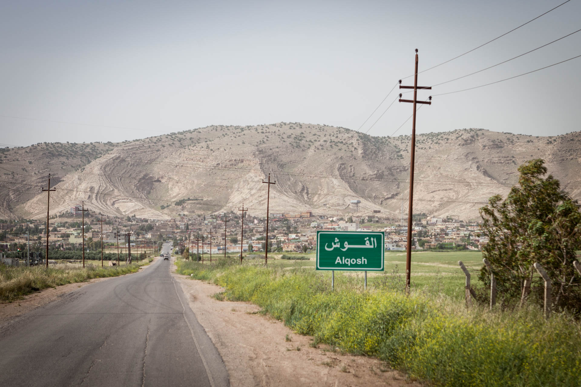 The city of Alqosh lies 40 km away from Mosul, its inhabitants are solely Aramaic speaking Christians. Most of them left the city, when the Islamic State was about to capture the road. Few of the citizens have returned until today, with the front line still being rather close.