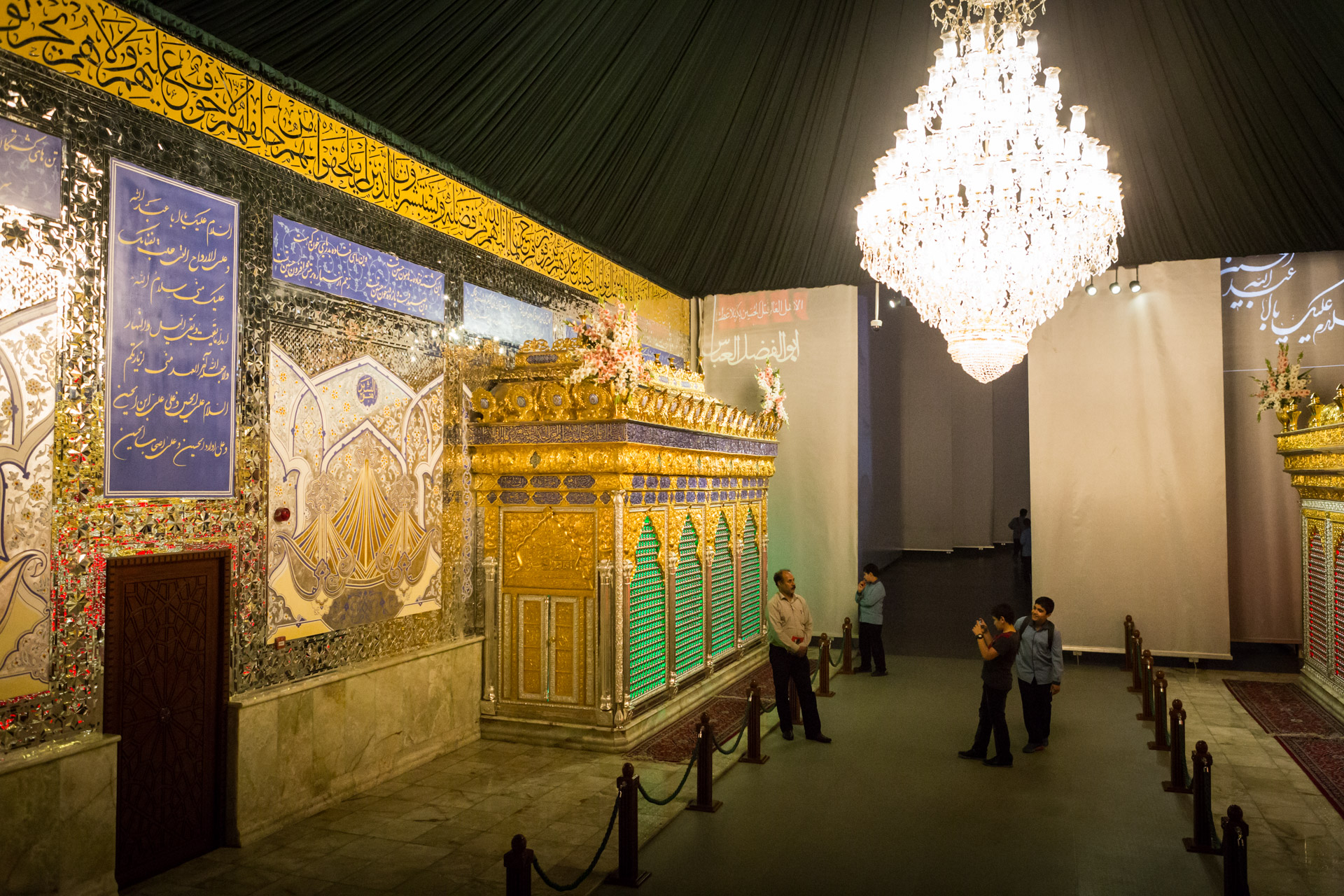 At the end of the bridge leading into the hall of martyrdom, a room representing paradise features two shrines, awaiting selfie-eager visitors.