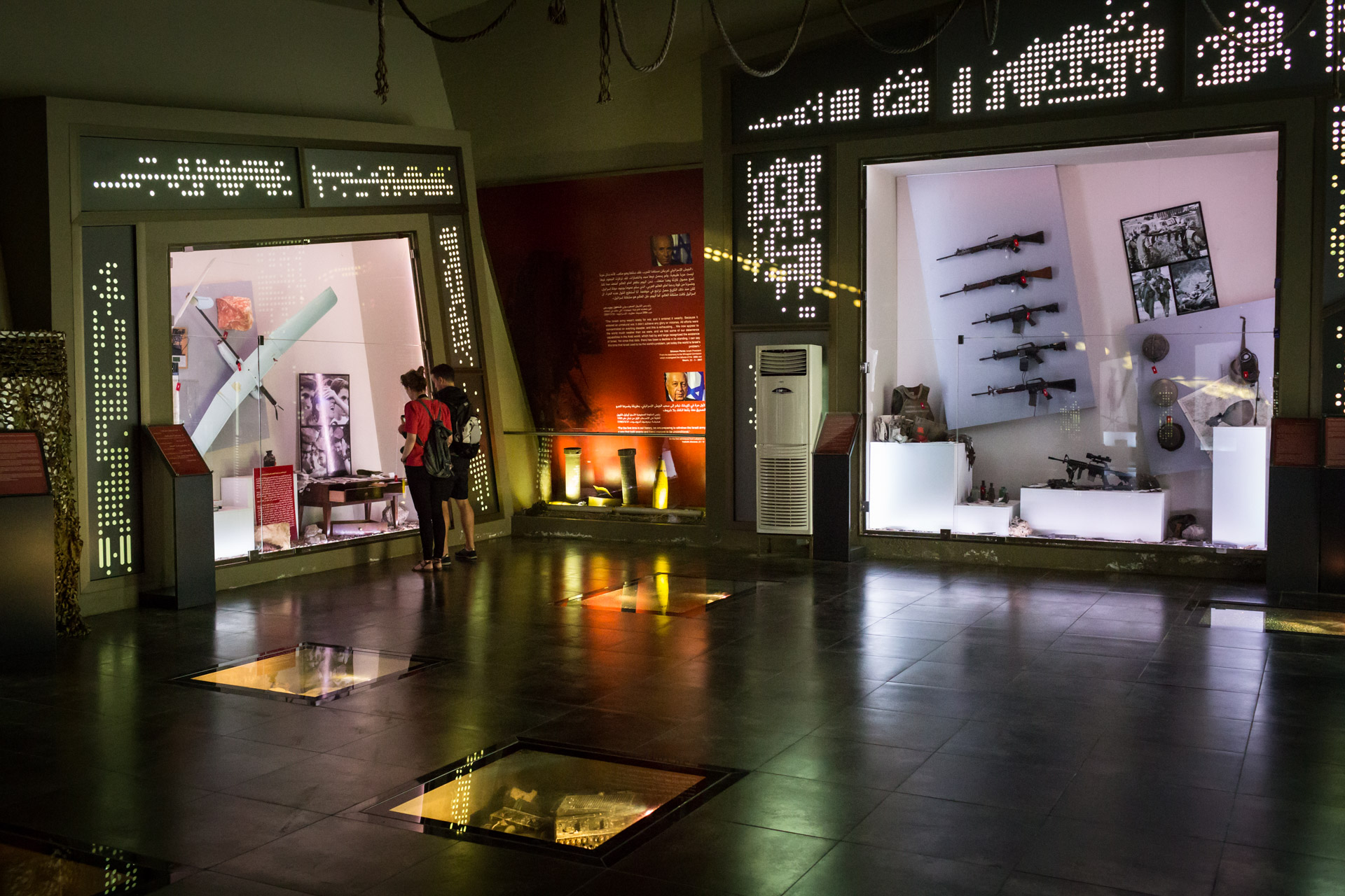 The museum hall has been extended over the years since it was opened. Israeli spy equipment and several drones used by Hezbollah can be seen among others.